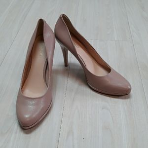 Nine West tan leather pump heels sz 8